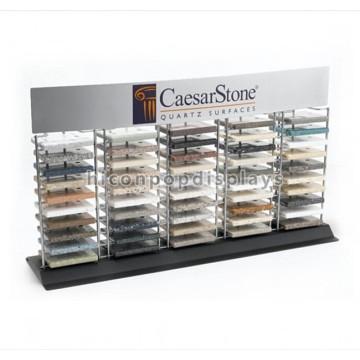 Custom Design Tischplatte Metall Granit Probe Display Tower Werbung Boden Fliesen Display Racks