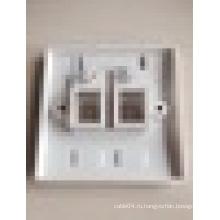 3M двойной лицевой панели порта, Ethernet лицевая панель rj45 настенная панель с дешевой цене