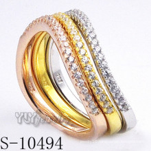 925 Silver Zirconia Jewelry with Women Combination Ring (S-10494)