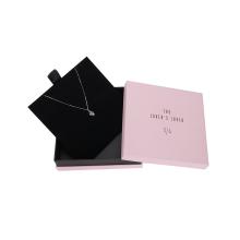 Boîte de papier d'emballage de collier personnalisé en relief