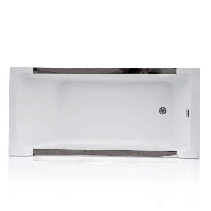 Eaton Acrylic Bathtub with Two Tempered Side Glass