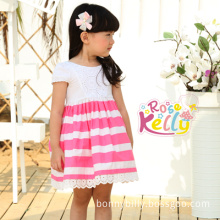 Pink Cotton Baby Clothes 2014 Summer Baby Girl Dress