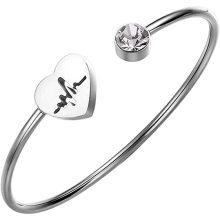 China Manufacturing Cheap fashionable heart shape cuff bracelet for Girlfriend