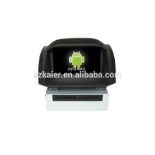 Quad core android, venda quente !!! android 4.4.2 carro dvd com gps, Bluetooth, Dual Zone, SWC para ford fiesta 2013