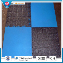 Outdoor Rubber Tile 500mm Colorful Outdoor Rubber Tile Playground Rubber Tiles, Interlocking Rubber Tiles