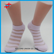Ladies cotton crystal cool custom socks