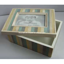 Nuevo marco de madera antigua de la caja con la abertura (628019)