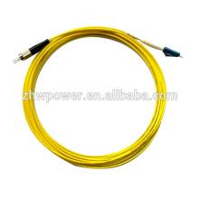 Frete Grátis Fibra Óptica Patch Cord 50/125 LC / FC UPC Singlemode 3mm 15 Metros