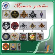 Gros personnalisé brodé maçonnique patchs