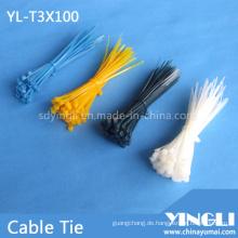Weit verbreiteter Nylon-Kabelbinder in 100 mm (YL-T3X100)