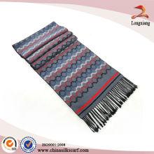 Seda clásica de hombre cepillado bufanda de color de lujo
