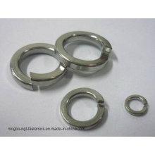 Arruela da mola DIN127 de aço inoxidável para a indústria