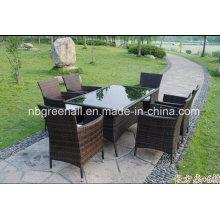 Patio Ocio Muebles de jardín de ratán al aire libre Muebles de comedor