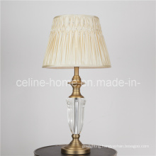 Crystal Desk Reading Lamp with Fabric Shade (SL82132)
