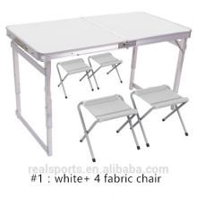 Mesa de picnic de aluminio al por mayor de mesa de picnic de metal de mesa de picnic de Niceway