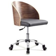 Escritorio de conferencia de la silla de la oficina del ordenador del cuero del eslabón giratorio de la venta al por mayor de la madera de HY2006