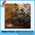 Argent / Golden Etched Glass / Conçu Décoratif Verre / Hôtel Décoration Verre / Verre décoratif acide et gravé