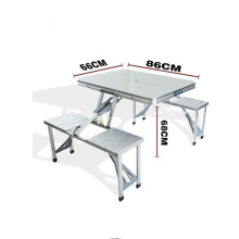 Low price outdoor furniture small portable aluminum folding camping table