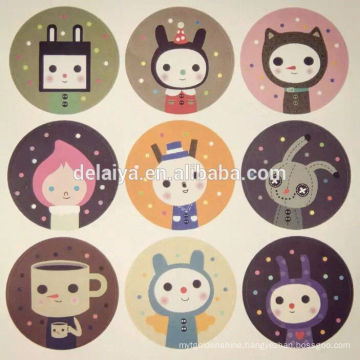 Customized Printed cute design seal paper stickers promotion gifts