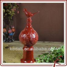 Botella de beber del pájaro de la decoración casera
