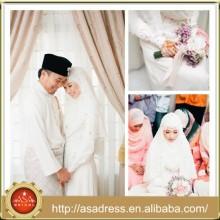 MSL142 muslimischen Hijab Chiffon Perlen islamischen Brautkleid