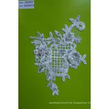 Schnur Lace Stoff mit Perlen Net Lace für Hochzeitskleid CMC081B