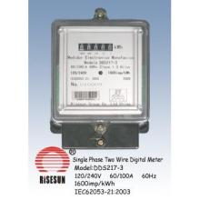 Single Phase Two Wire Static Energy Meter