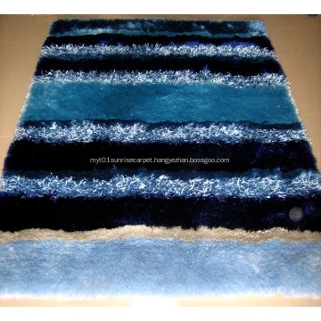 viscose and silk shaggy with design