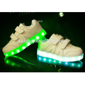 Latest design low cut kids flashing shoes with led light