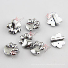De aleación de zinc de metal de plata pata encanto ajuste pulsera de cuero (JP08)
