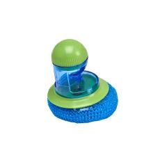 Cepillo de dispensación de alta calidad del pote de la esponja del jabón plástico del pelo del hogar del precio razonable