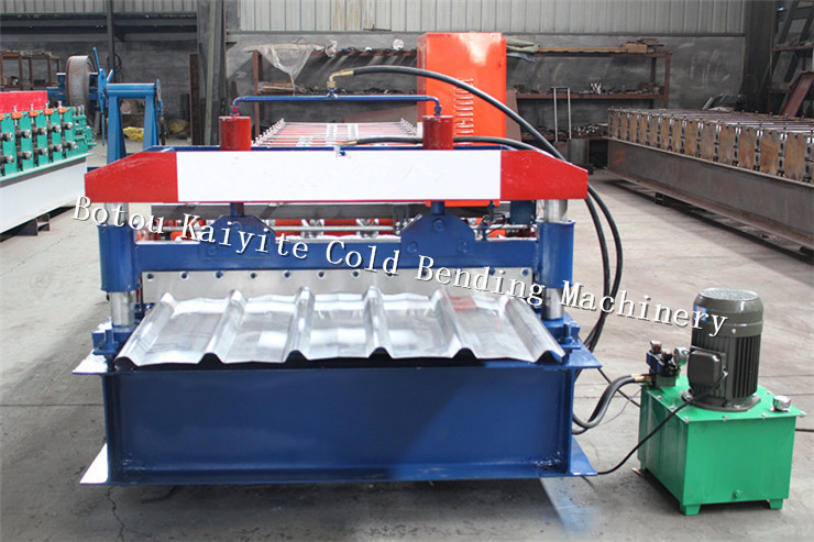 Trapezoid profile roof tile machine