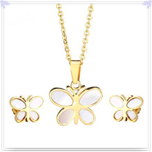 Fashion Jewelry Fashion Accessories Stainless Steel Jewelry Set (JS0054G)