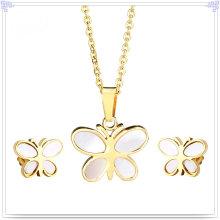 Moda jóias acessórios de moda conjunto de jóias de aço inoxidável (js0054g)