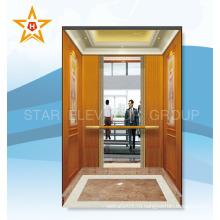 Подержанный Пассажирский лифт для продажи (кабина с деревянным рисунком)