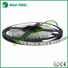 5 v / 12 v 60 LEDs / m 2835 levou luz 5mm mini faixa tira conduzida branca dupla