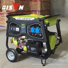 BISON (CHINA) Taizhou Fabrik 2kw 3kw 4kw 5kw 6kw Elektrischer Benzingenerator Beweglicher elektrischer Generator