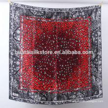 100 soie 2014 hijab style nouveau léopard rouge