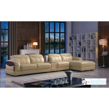 Brown Color Leather Sofa, L Shape Sofa (K8006)