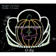 New rhinestone small cute pumpkin crown for halloween pageant