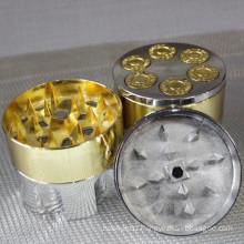 Wholesale aluminum Herb Grinder for Daily Use with Golden (ES-GD-003)