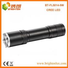 Fábrica de alta potência Multi-função de feixe de feixe ajustável alumínio Cree XPG 5W recarregável 3w cree q3 / q5 levou lanterna