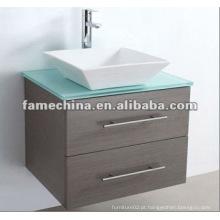 2012 Gabinete de banheiro com MDF quente projetado com tapete de vidro