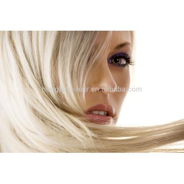 Extensões brasileiras do cabelo natural do cabelo humano de Remy do brasileiro da alta qualidade por atacado direta