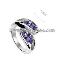 Atacado jóias não mínimo encantado expressões anéis jóias ouro branco amizade anel