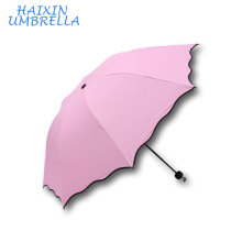 Flowers Appear When Wet Unique Flower Folding Magic Rain Umbrella For Women For Sale