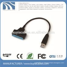 """USB 2.0 de alta velocidad a SATA Cable de adaptador de 20pin para la impulsión de disco duro de 2.5 """"HDD"""