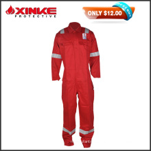 50% Discount sales Red Cotton Nylon 8812 FR Coveralls with reflective tape