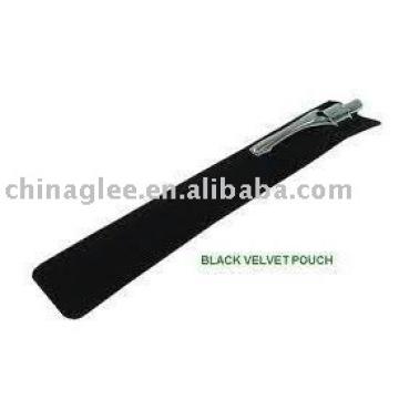 Hot sales stock item black velvet pen pouch