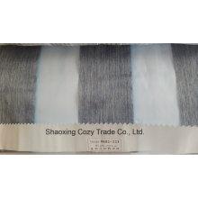 Nouveau tissu de rideau transparent Organza VoIP à motif de rayures populaires 0082121